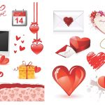 Valentines day eps psd free vector download