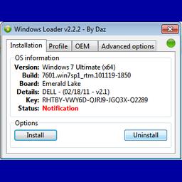 Windows Loader 2.2.2 Full – kích hoạt bản quyền win 7