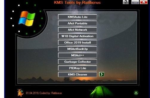 Download Ratiborus KMS Tools 18.10.2021 Mới nhất active Windows, Windows Server, Microsoft Office