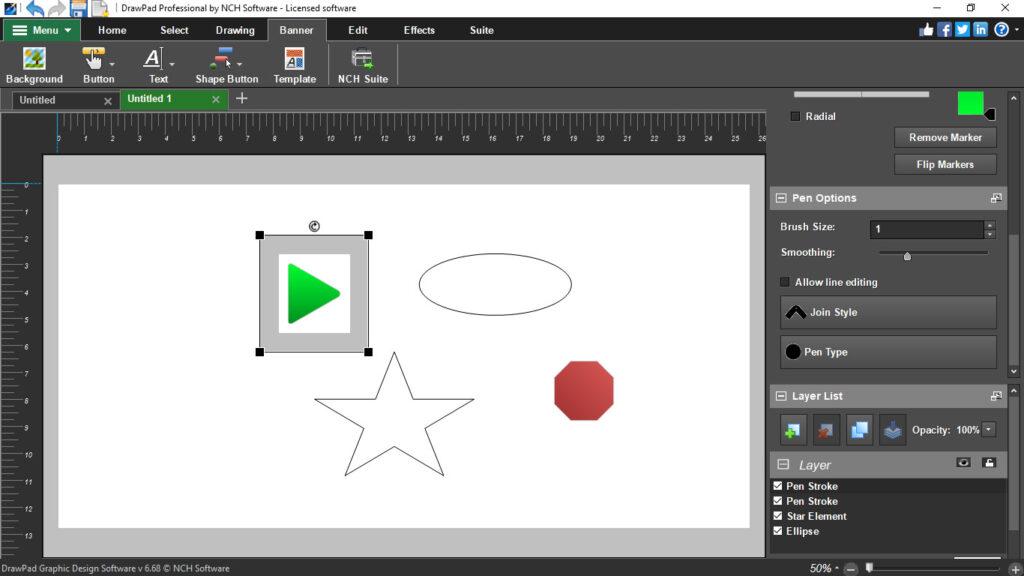 DrawPad Graphics Editor Free Download