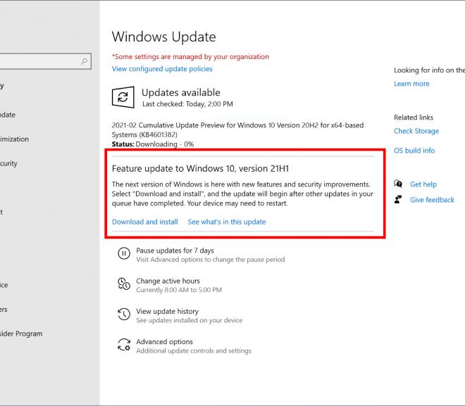 Tải về Windows 10 21H1 Insider Preview build 19043