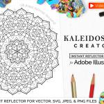 Download Vector Kaleidoscope for Adobe Illustrator