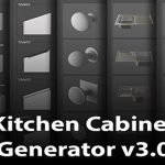 Download Kitchen Cabinet Generator V3.0 3ds Max 2016-2022