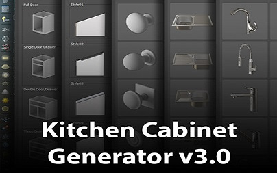 Download Kitchen Cabinet Generator V3.0 3ds Max 2016-2022