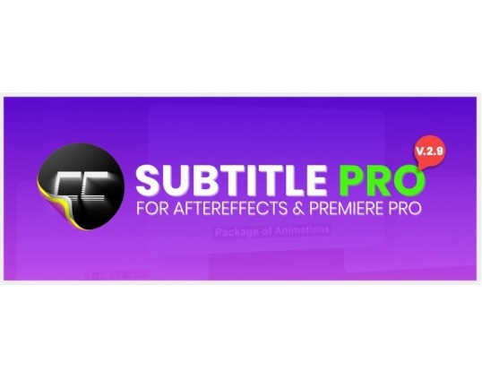 Download Aescripts Subtitle Pro 2.8.0 for After Effects (Win/Mac)