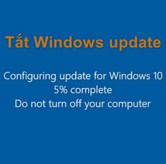 Cách tắt Windows Update trên Windows 10 mới nhất và nhanh nhất